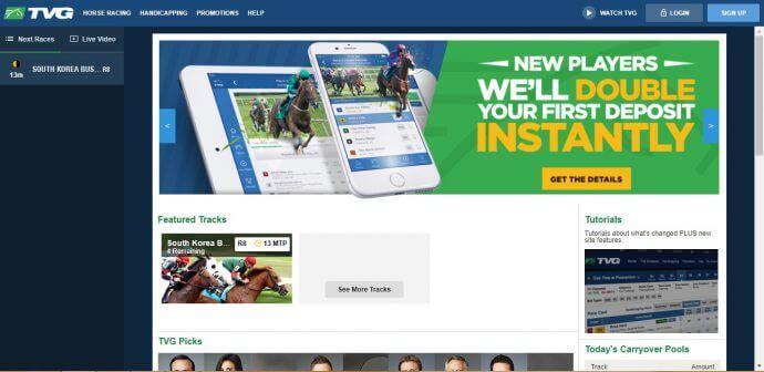 TVG Promo Code Homepage