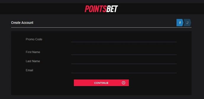 PointsBet Registration