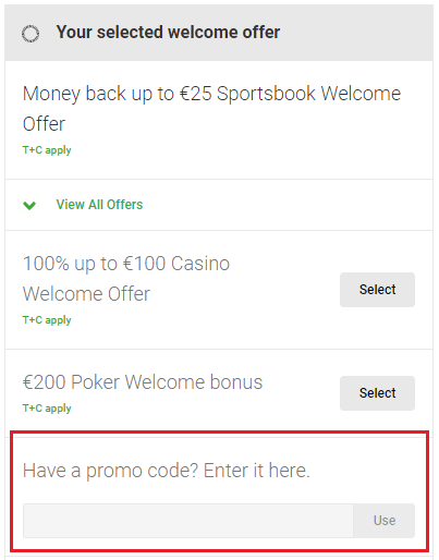 Unibet promotions in the UK