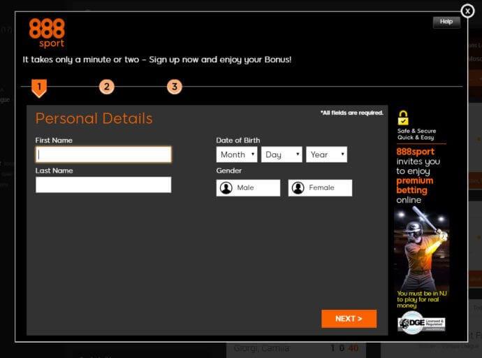 888Sports Registration