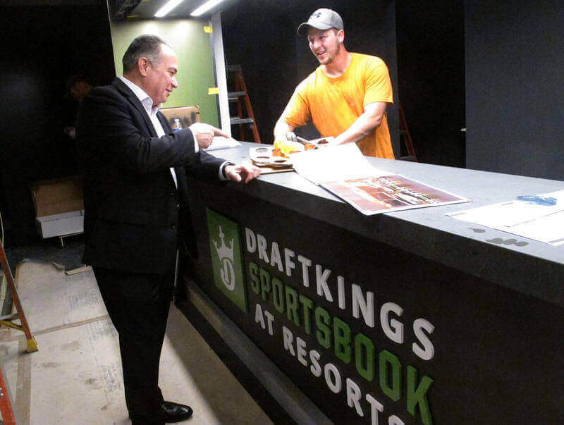 Sports betting window at DraftKings