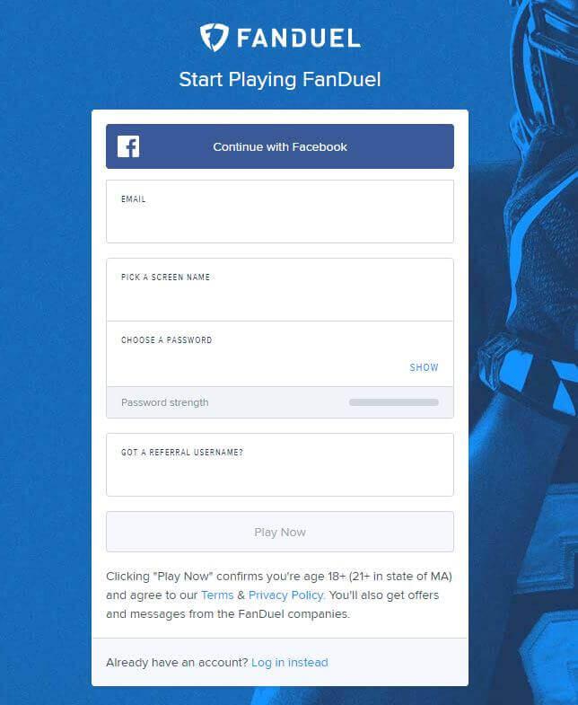 FanDuel Sportsbook Account