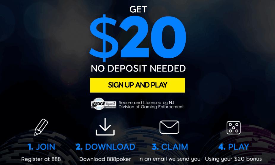 888 Poker sign-up bonus