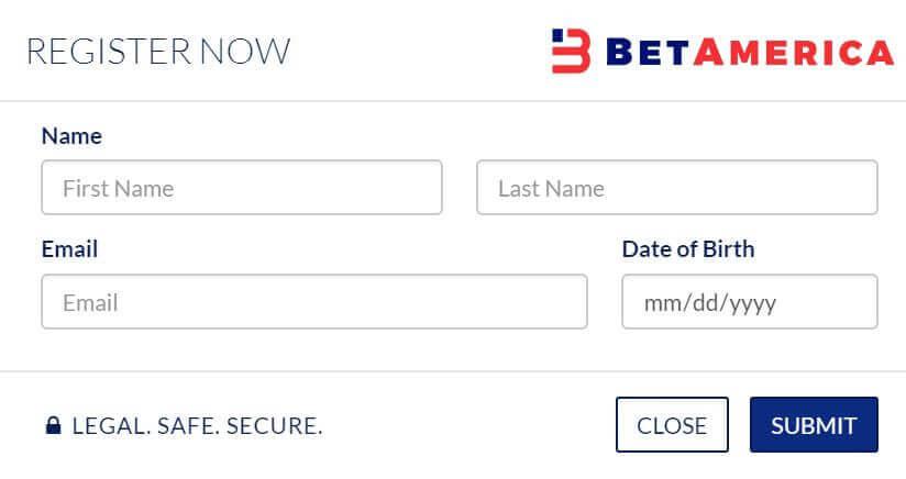 Register at BetAmerica Casino