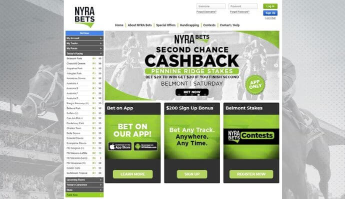 NYRA Bets Website