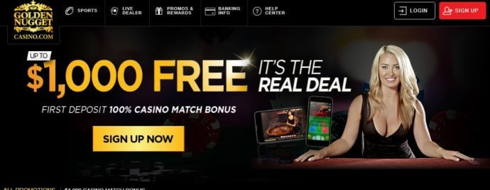 Golden Nugget Online Casino Bonus