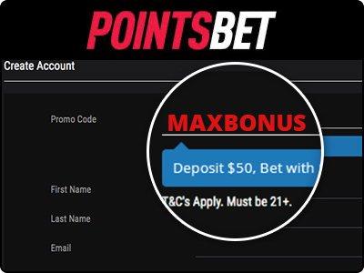 PointsBet Promo Code MAXBONUS