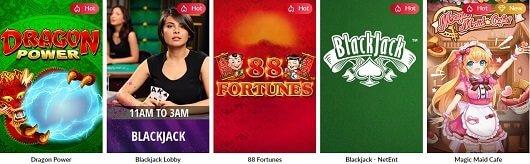Hard Rock Online Casino Games