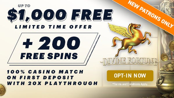 WynnBet Casino Divine Fortune Bonus