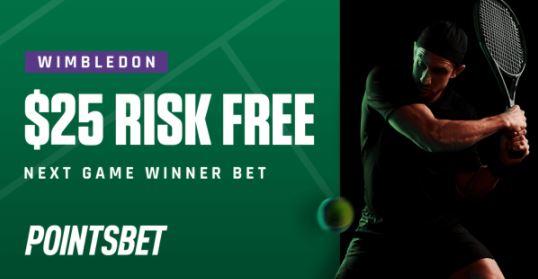 Wimbledon PointsBet Exclusive Offer
