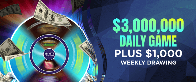 Resorts Casino daily game promotion