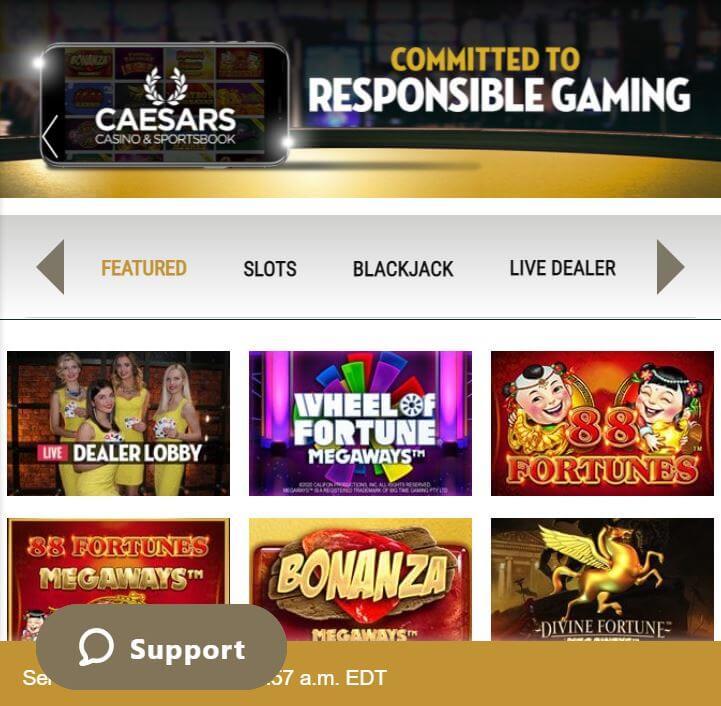 Caesars Casino Home